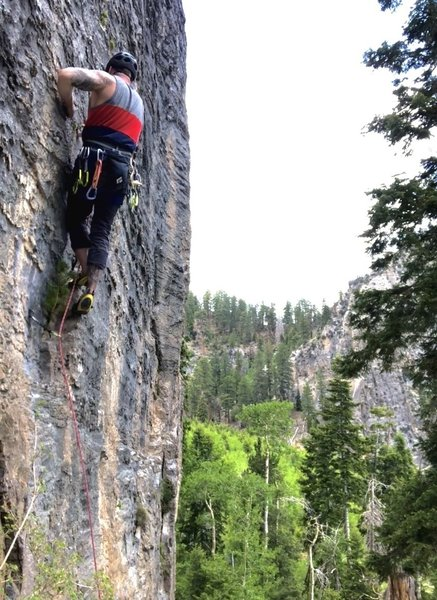 crux move leaving bolt 2 on Quieter Days