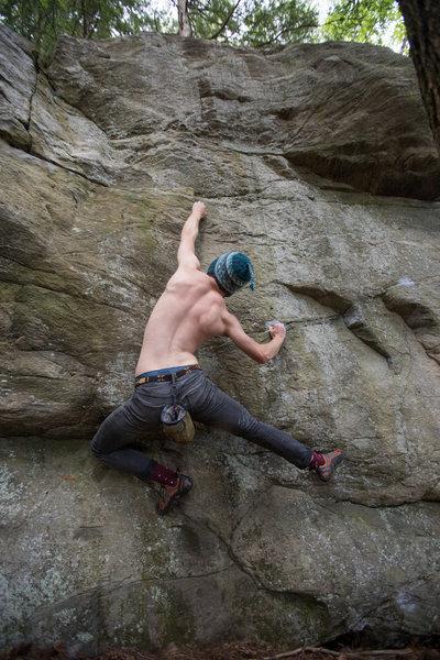 Noah Kane with the alternative (non-jump) way of starting 'Jump Start'