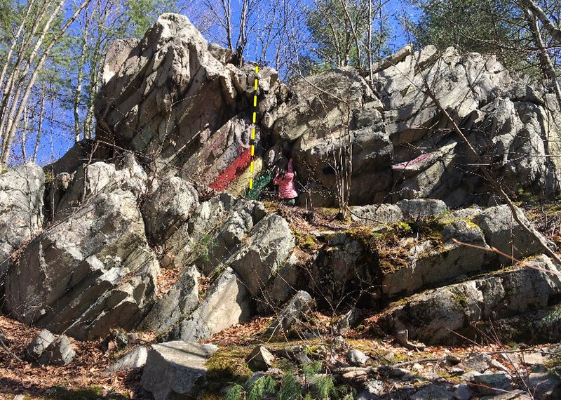 The route on Rainbow Rocks.