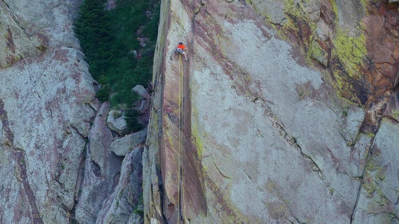Pitch 1, during a rope solo ascent.<br> <br> Photo by my dad, Pat Manson.