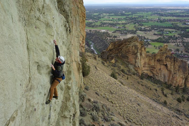 Blustery conditions for Benedikt Springer on a June ascent