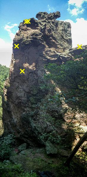 Backside of Pinky Pillar looking west