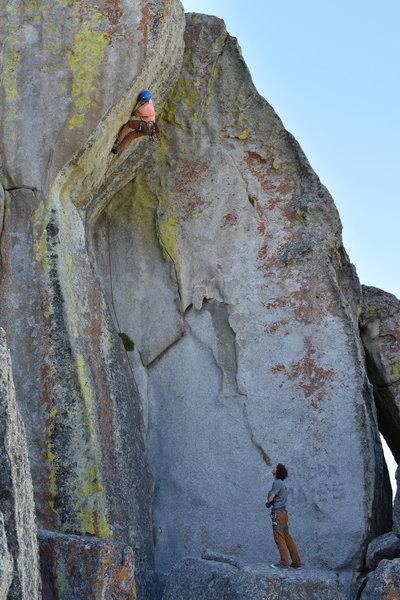 Unknown climber sending (6/10/20)