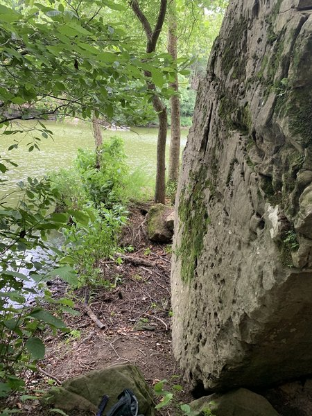 Side of boulder