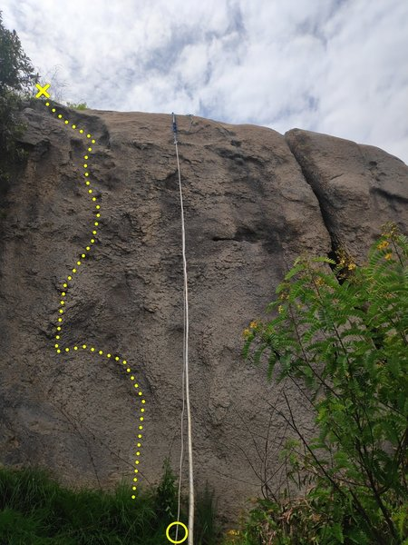 3rd Route on the left from the large crack