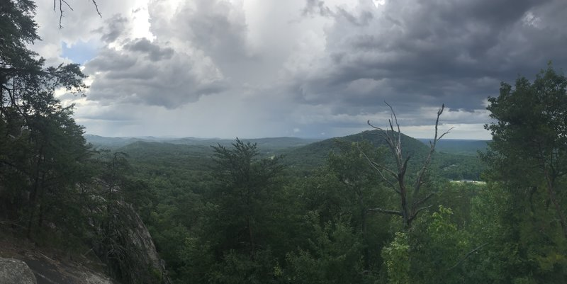 Summer afternoon storm from atop of Cake Rock.