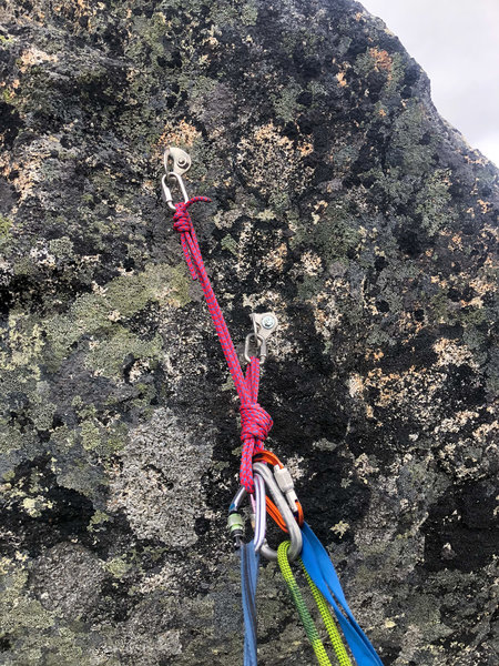 Pitch 6 Topout Belay/Rappel Station
