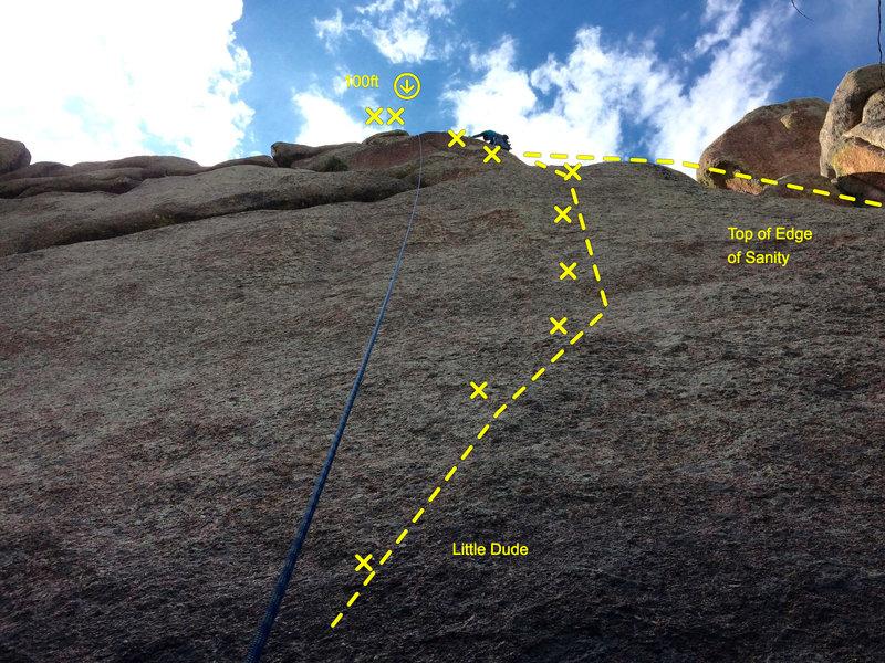 Slava nearing the top of Edge of Sanity.
