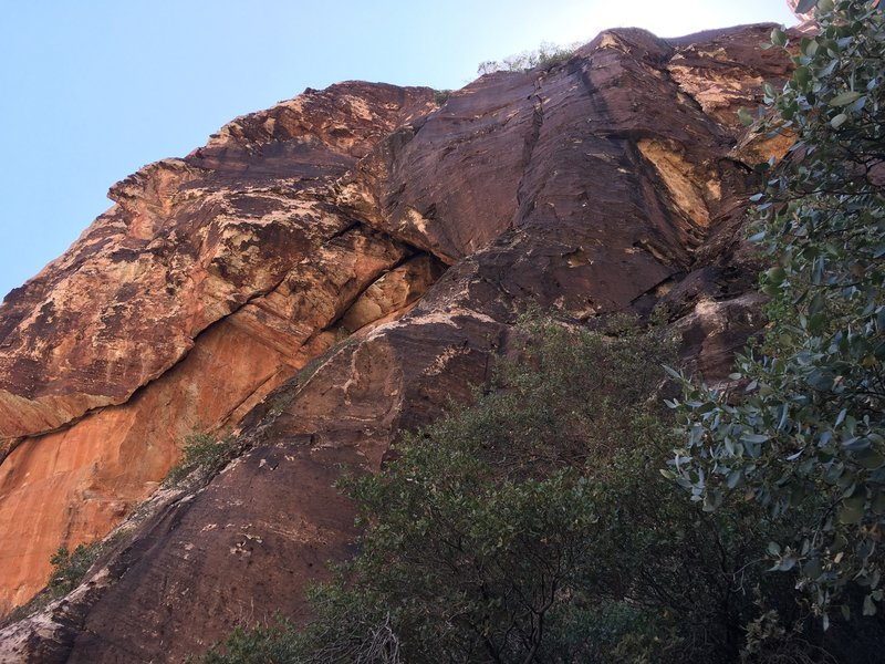 View of climb