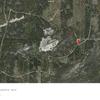 Screenshot Google Earth of pin(waypoint)  location of Gravel Pit TrailHead for Phantom Ridge.  Park/Camp here.