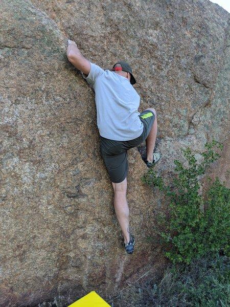 Fun climb, not the most fun topout.