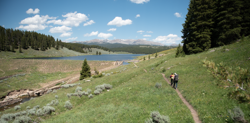 Returning from Lake Point crags. The hike alone is very enjoyable.