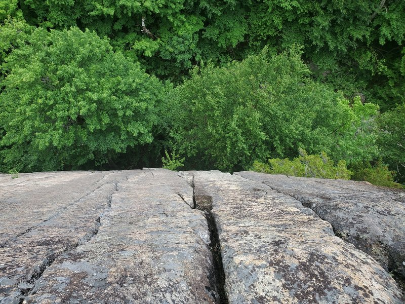 The top of sunkist wall where several cracks converge. Left to Right in the photo is autobot, centurion, ohh mow mao