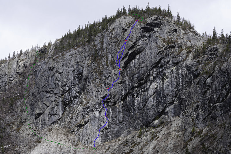 """""""The Log Drivers Waltz 5.10b"""" on The Grotto Wall"""