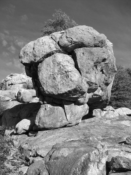 Hot Rock, east face that faces the lake.