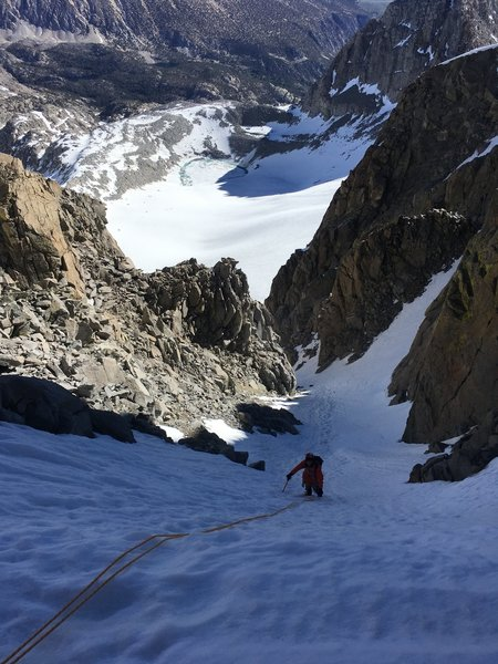 Last bit to the top of the couloir - 16 June 2018.