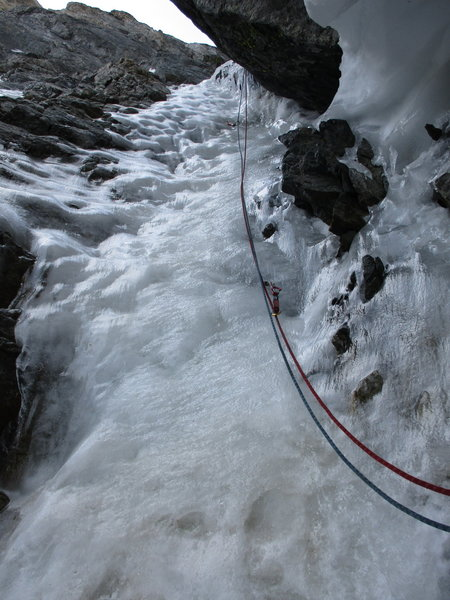 Crux ice section, July 22, 2020.