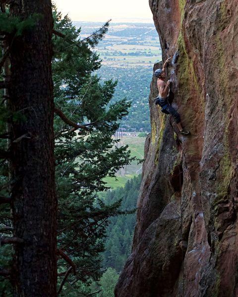 William Shaftner climbs the mountain.