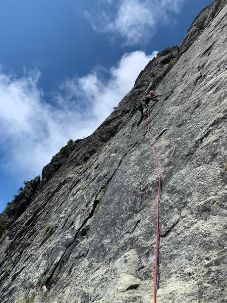 Beginning of .10c pitch, you can see how well bolted it is. Taken by my partner.