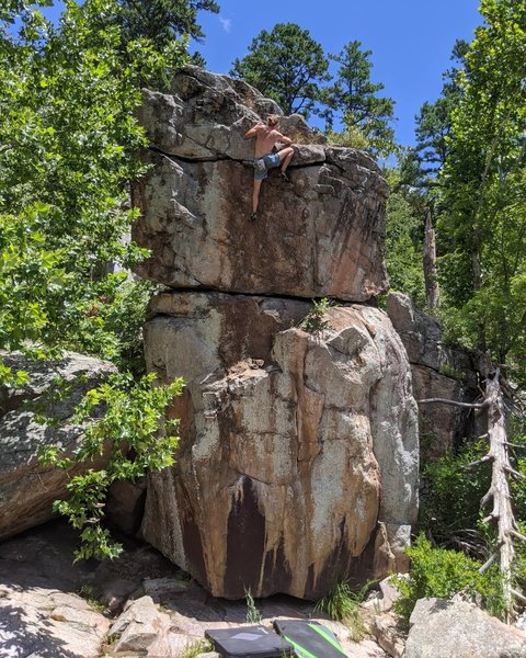 Solo-higgball on my favorite route at millstream!