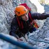 Blake Cassagranda Climbing The Upper Pitch Of OS