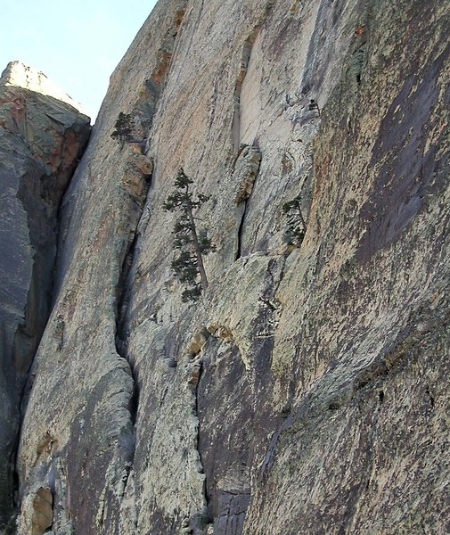 The upper corner system, after the traverse.