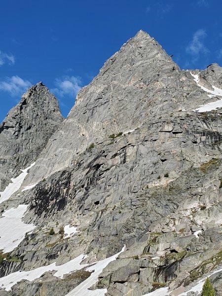 East face and NE ridge of Mo.  With the D.O.N.G. on the skyline.