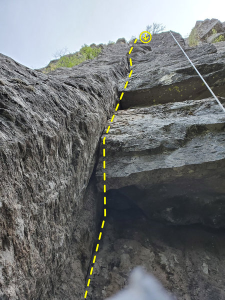 Upper section of the route.