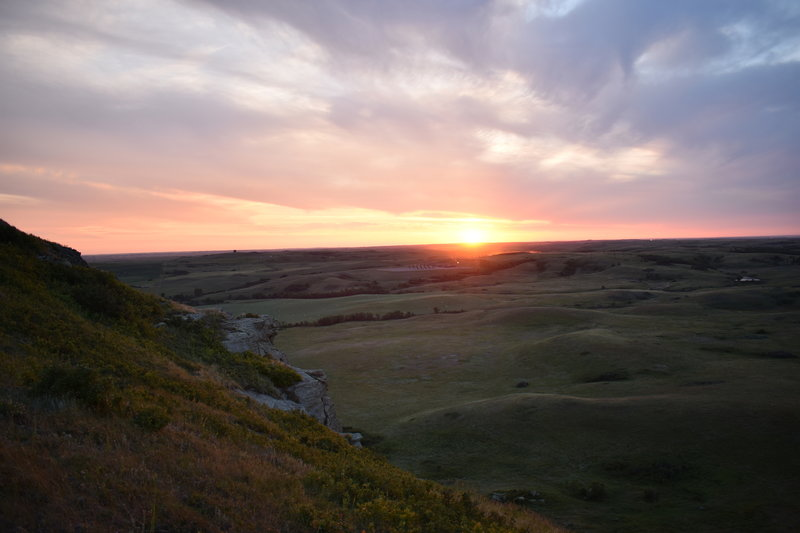 Atop Chimney Butte, early August sunset