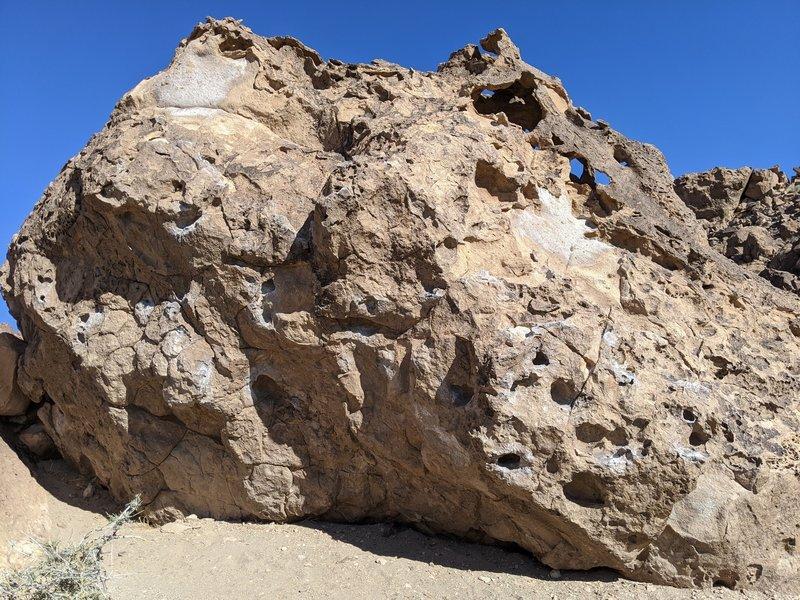 South face of Jesus Chrysler boulder