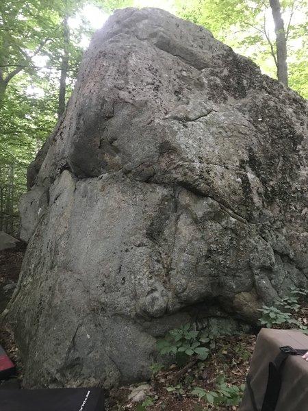 Elephant Man Boulder - a trailside view.