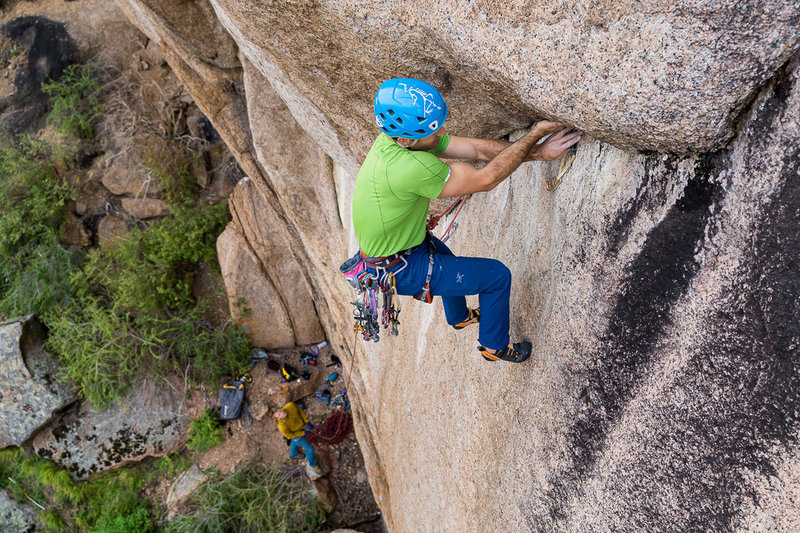 P1 - Undercling Traverse.<br> <br> Bergreen Photography.