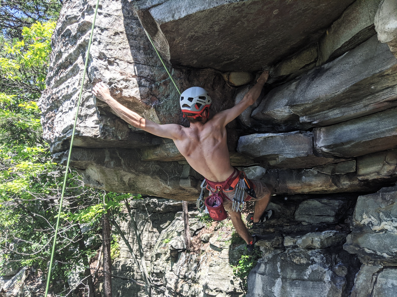 Timothy pulling the crux