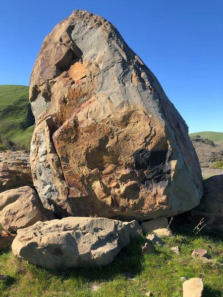 Close up of south side of boulder.