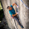 """Mark """"The Man"""" Hudon fighting hard on the first crux"""