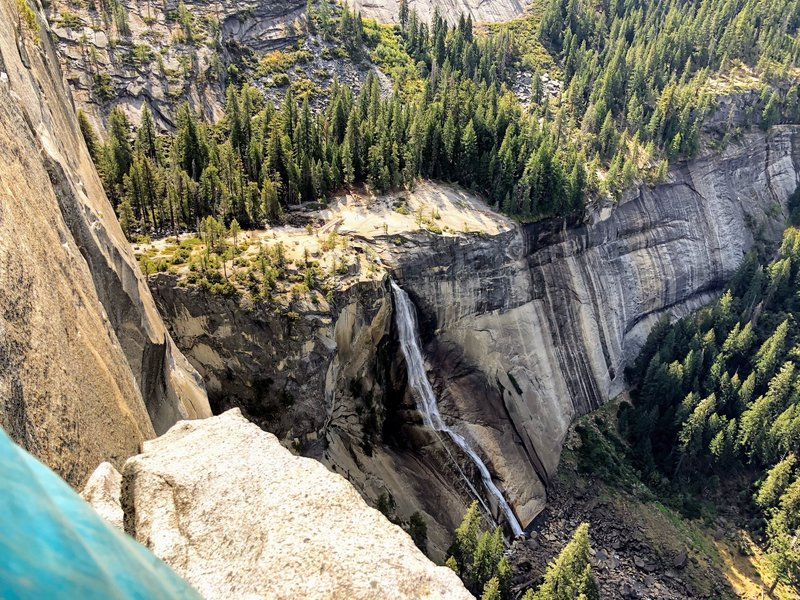 Nevada Falls from P5 belay
