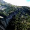 Panoramic view from P5 belay.  Glacier Point and Jericho wall off in the distance