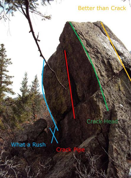 Crack Rock routes.