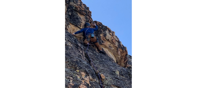 Rob Bracy leads the second ascent of this stellar route