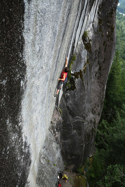 Deep in crux of Quad Cracks. Photo Nate George with permission.