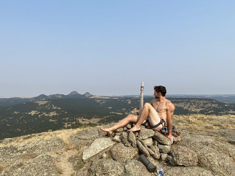 Enjoying the summit scenery