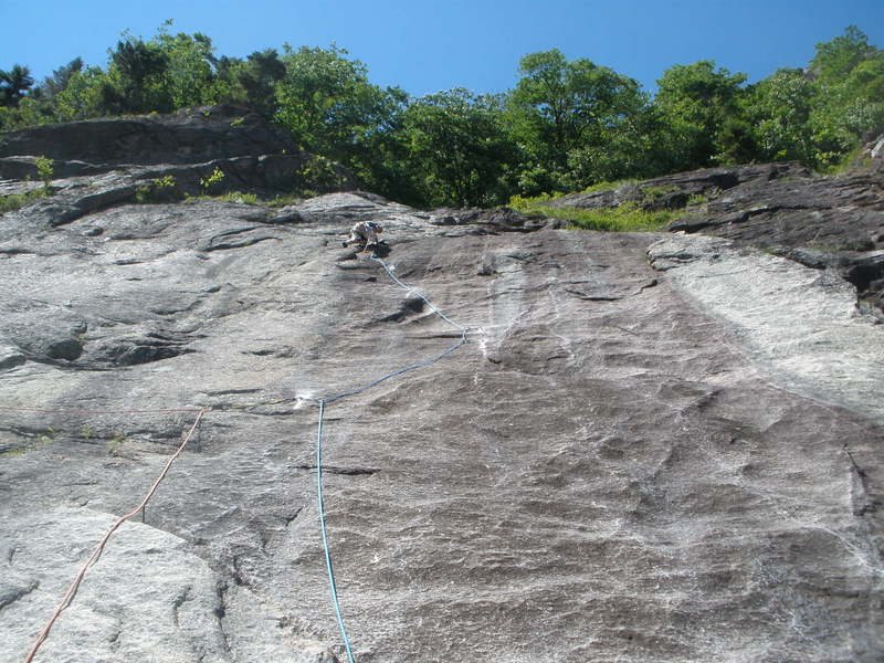 """Pretty good shot of the route of P3- Jon is on top of the """"hump"""""""