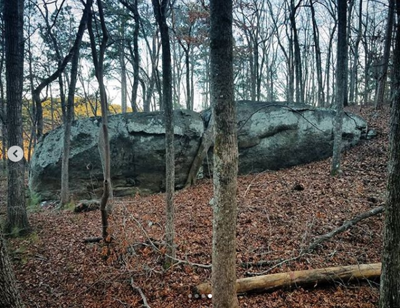 Another boulder in the area.