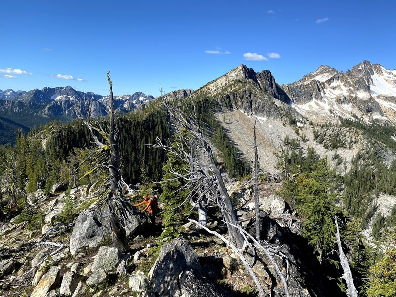 The ridge in all it's beauty. There are many sections and sub-summits that are hidden