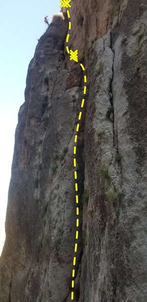 Be sure to tie stopper knots because the Tails of an 80 meter rope just barely touch the ground.