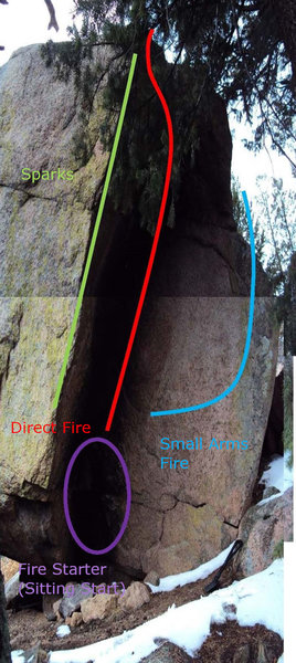 The Fire Pit routes.