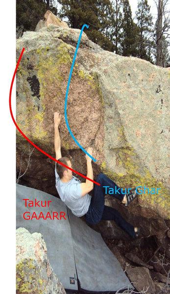 Takur Ghar South routes.