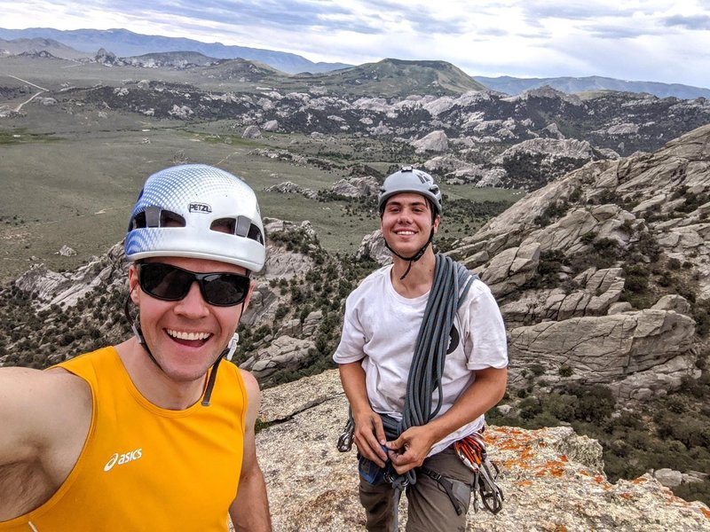 On the summit with Logan