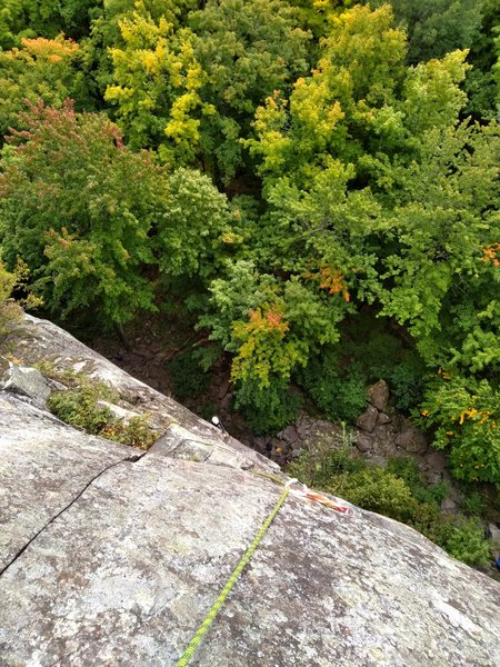 Belaying from the top