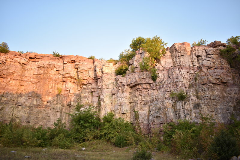Sunshine in the quarry